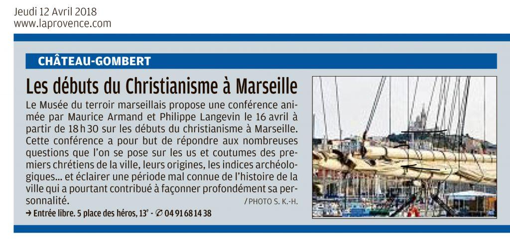 """Visuel de l'article """"Les débuts du Christianisme à Marseille"""""""
