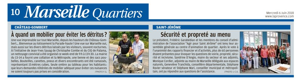 Articles de La Provence - Mercredi 6 Juin 2018