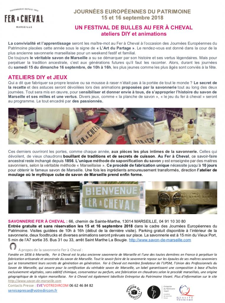 Brochure Festival de Bulles au Fer à Cheval